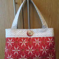 SALE - Christmas Handbag - Scandi Snowflakes