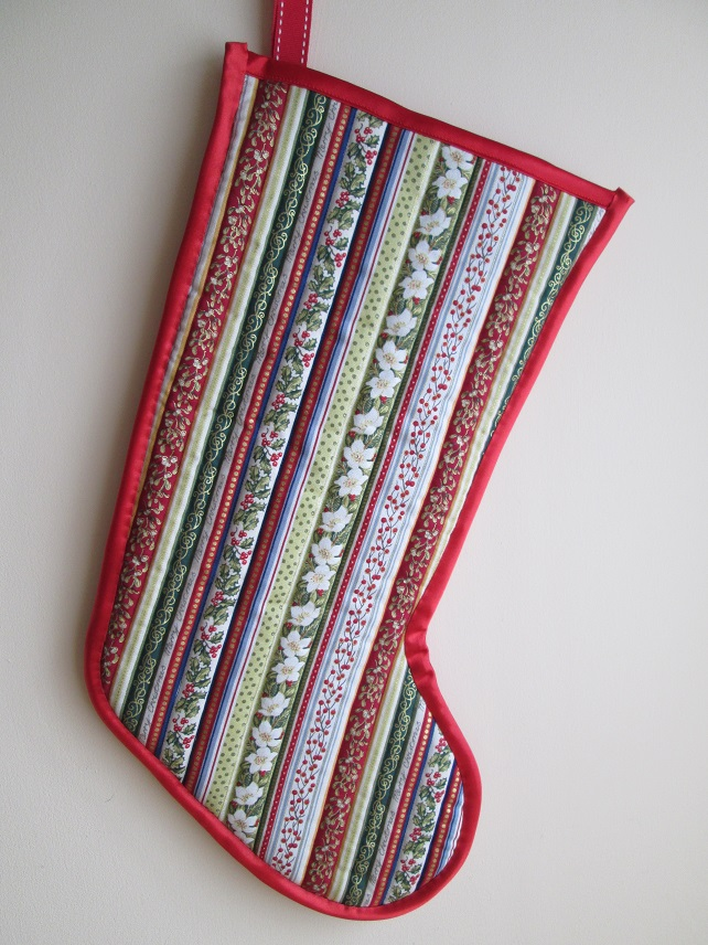 Vintage Stripe Christmas Stocking