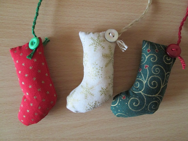 Scrapbox Stocking Tree Decoration Set
