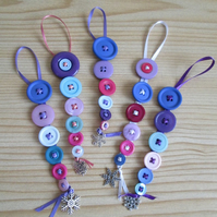 'Frosty' Button Dangles