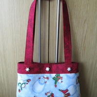 SALE - Snowman Christmas Handbag - It's Snowing!