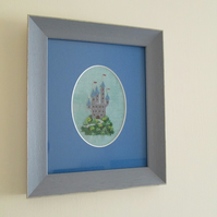 Tiny Castle Hand Embroidered Picture