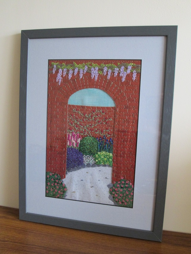 Walled Garden Embroidered Picture