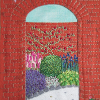 Walled Garden Hand Embroidered Picture