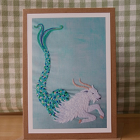 Capricorn Greetings Card