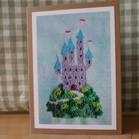 Tiny Castle Greetings Card