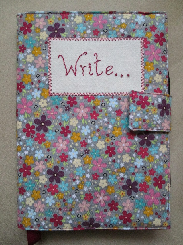 A5 Floral Reusable Notebook Cover