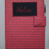 A5 Red & Black Geometric Print Notebook Cover