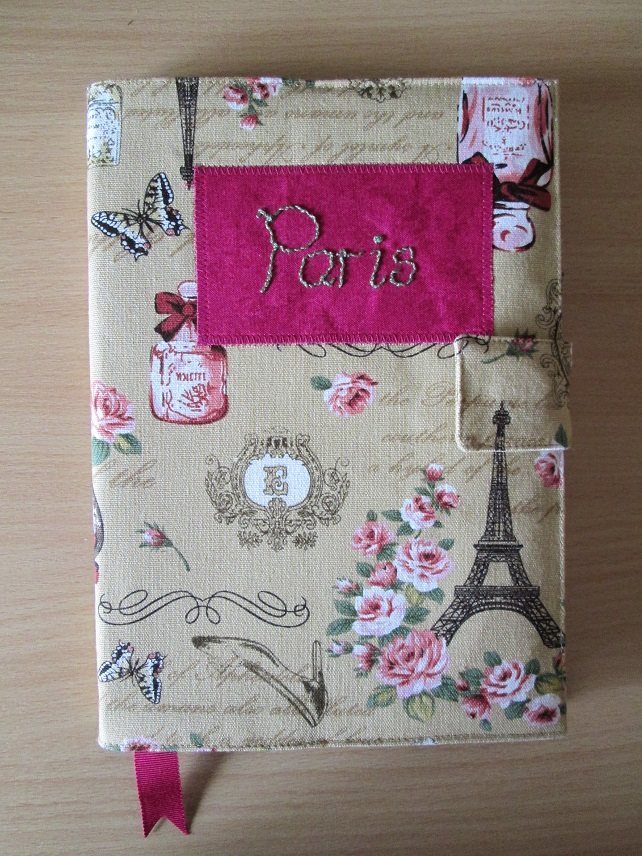 A5 Paris Reusable Notebook Cover