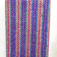 A6 'Harris Tweed' Reusable Notebook Cover - Rainbow Herringbone