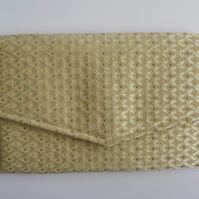 Gold Brocade Clutch Bag