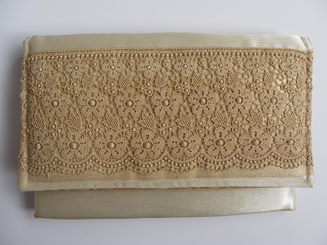 Small Clutch Bag with Lace