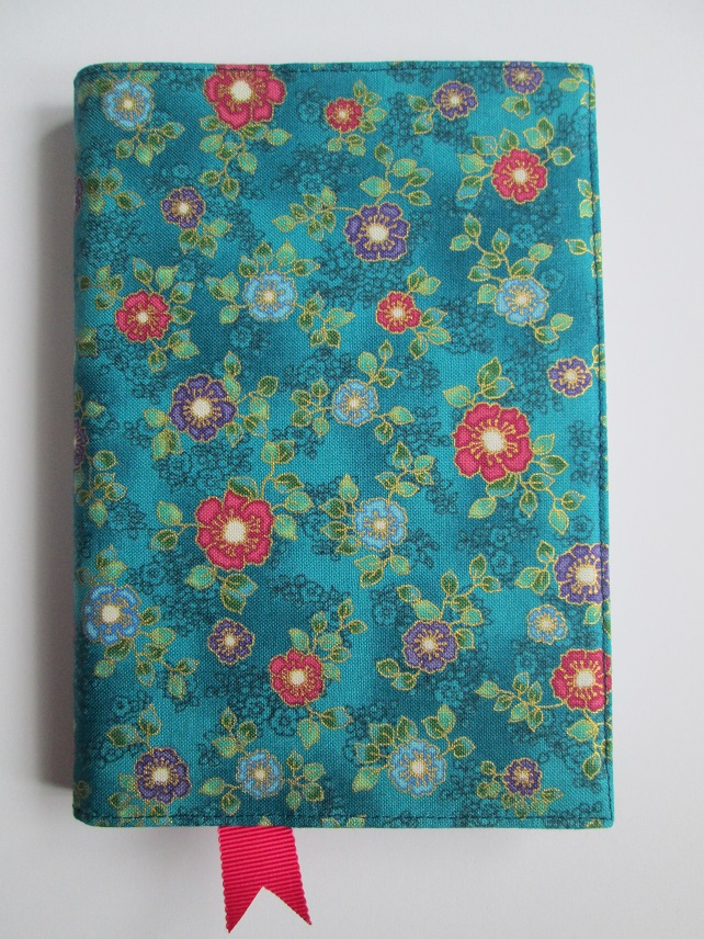 A6 Jewelled Flower Resusable Notebook Cover