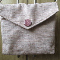 Beige Chenille Small Cross Body Bag