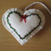 Felt Heart Tree Decoration