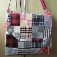 SALE - Plaid Flannel Baby or Carer's Bag