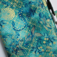A5 Oriental Dragons, Peacocks and Fish Reusable Notebook Cover