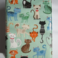 A6 Cats on Turquoise Reusable Notebook Cover