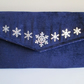 Christmas Handbag - Snowflake Envelope Clutch