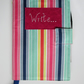 A5 Bright Stripe Reusable Notebook Cover
