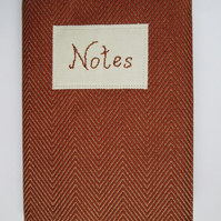 A5 Terracotta Chevron Reusable Notebook Cover