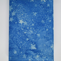 A5 Blue Batik Swirl Reusable Notebook Cover