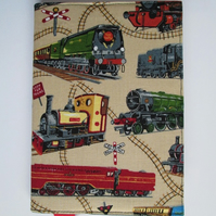 A6 Trains Reusable Notebook Cover