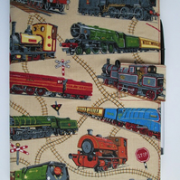 A5 Trains Reusable Notebook Cover