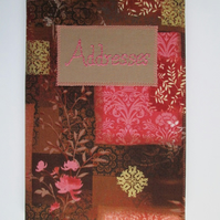 A5 Address Book - Chocolate and Pink Oriental Print