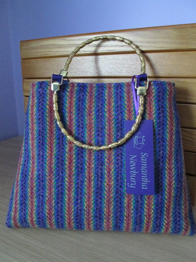 Rainbow 'Harris Tweed' Handbag