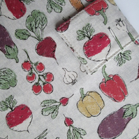 A5 Vegetables, Gardeners, Allotment Reusable Notebook Cover