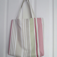Pastel Stripe Shopping Bag