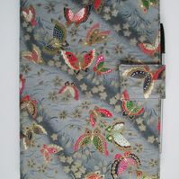 A5 Oriental Butterflies on Grey Reusable Notebook Cover