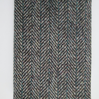 A6 'Harris Tweed' Reusable Notebook Cover - Grey Herringbone