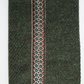 A6 'Harris Tweed' Reusable Notebook Cover - Dark Green with Metallic Braid