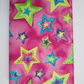 A6 Bright Stars on Pink Reusable Notebook Cover