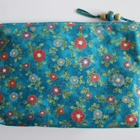 Jewelled Flower Make Up Bag