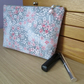 Pink and Silver Floral Make Up Bag
