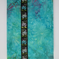 A6 Turquoise Floral Batik Reusable Notebook Cover