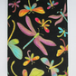 A6 Dragonflies on Black Reusable Notebook Cover