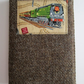 A6 'Harris Tweed' Reusable Notebook Cover - Brown with Steam Train