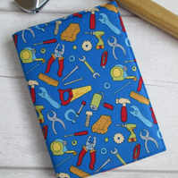SOLD - A6 DIY Tools Reusable Notebook or Diary Cover