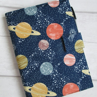 A5 Planets Reusable Notebook Cover