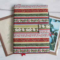 SALE - A5 Festive Foliage Christmas Reusable Notebook Cover