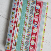 A6 Baking Reusable Notebook or Diary Cover