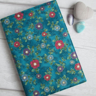 A6 Jewelled Flower Resusable Notebook or Diary Cover