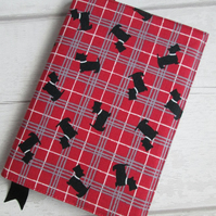 A6 Scottie Plaid Reusable Notebook or Diary Cover