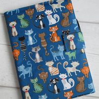 A5 Quirky Cats Reusable Notebook Cover