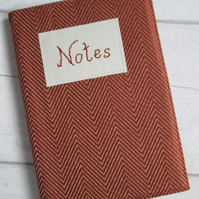 SALE - A5 Terracotta Chevron Reusable Notebook Cover