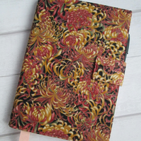 A5 Chrysanthemum Reusable Notebook Cover